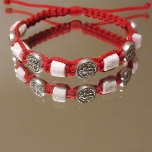 St.Benedict Stone-Silver Medal Bracelets