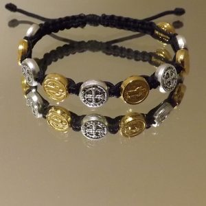 St.Benedict Mixed Medal Bracelet