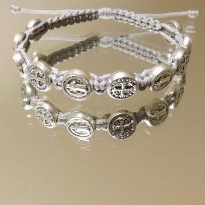 St.Benedict Silver Medal Bracelets